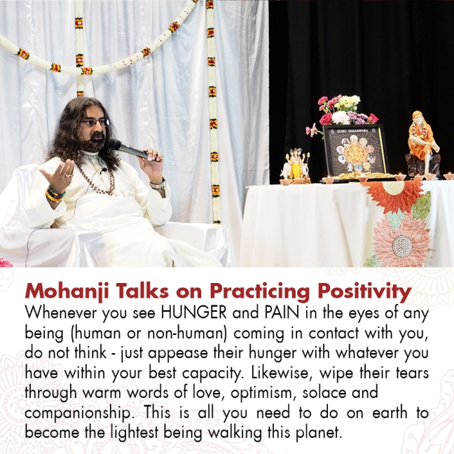 Mohanji quote - Practicing Positivity 15