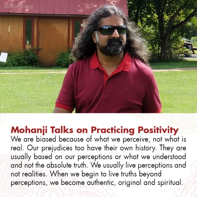 Mohanji quote - Practicing Positivity 8
