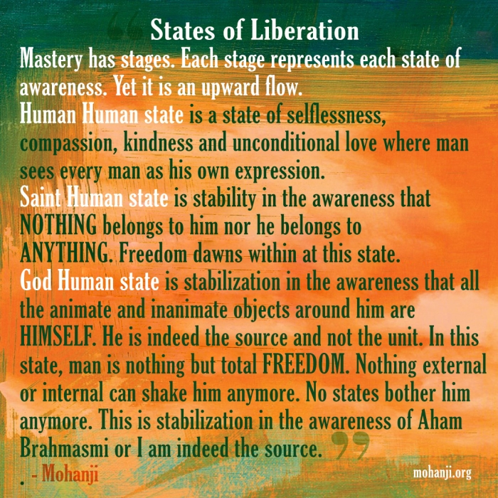 Mohanji quote - States of Liberation