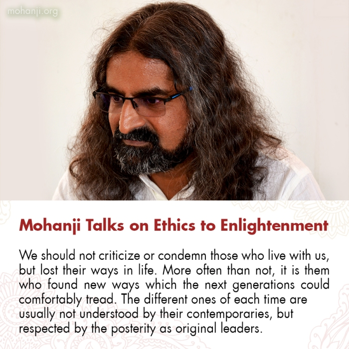 Mohanji quote - Ethics to Enlightenment 6