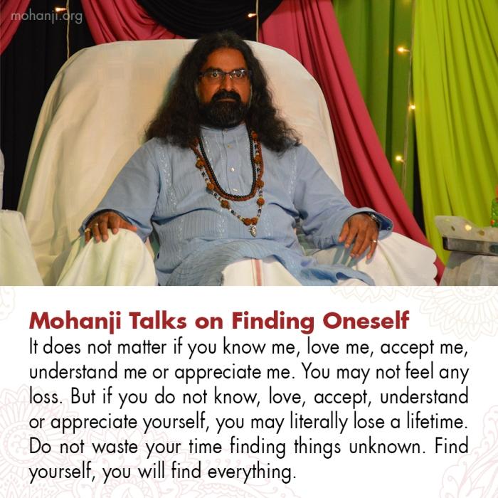 Mohanji quote - Finding Oneself