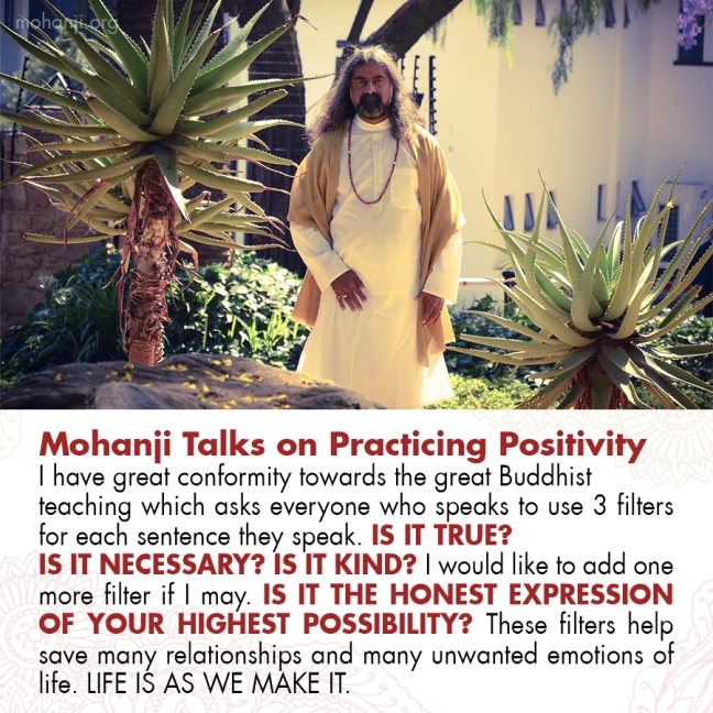 Mohanji quote - Practicing Positivity 20