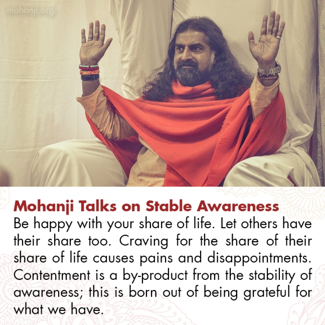 Mohanji quote - Stable awareness