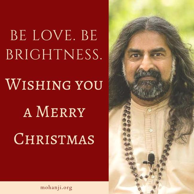 Brahmarishi Mohanji wishes you Merry Christmas- message
