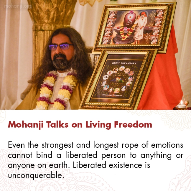 Mohanji quote - Living Freedom