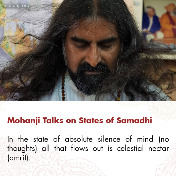 Mohanji quote - States of Samadhi