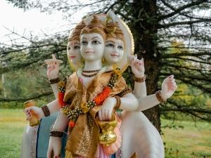 Dattatreya idol in Mohanji Foundation Datta Tapovan ashram, Canada