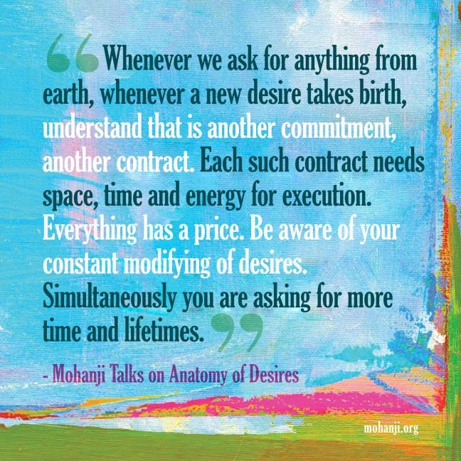 Mohanji quote - Anatomy of Desires
