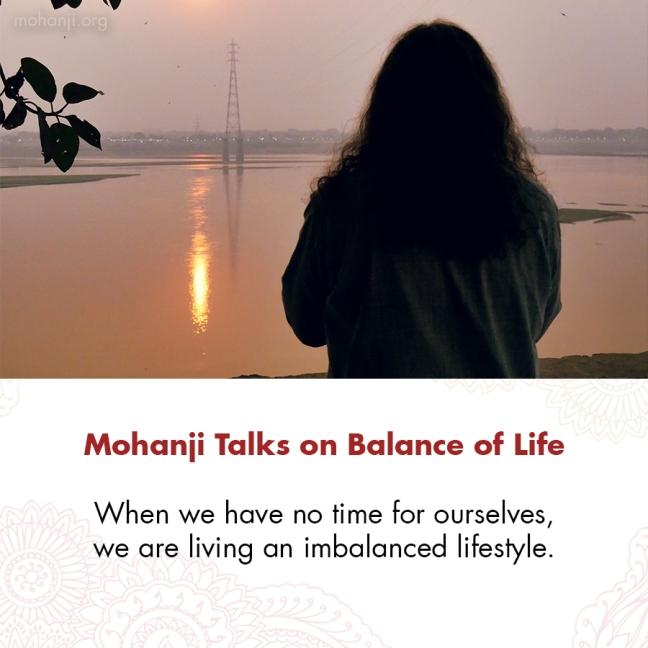 Mohanji quote - Balance of Life