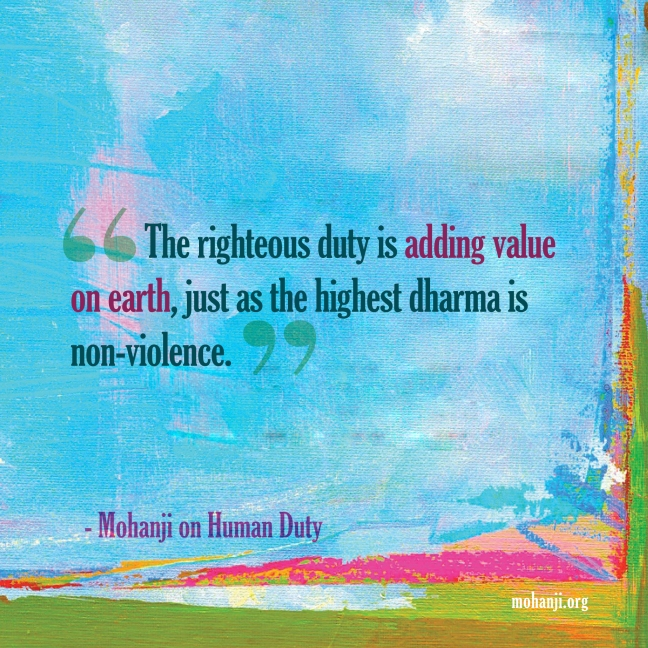 Mohanji quote - Human duty