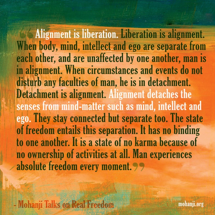 Mohanji quote - Real freedom