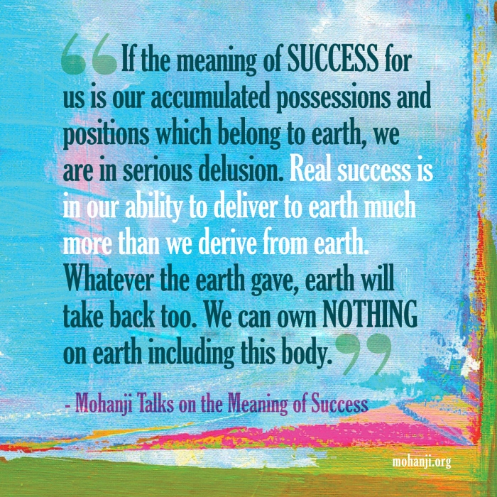 Mohanji quote - Success, meaning of