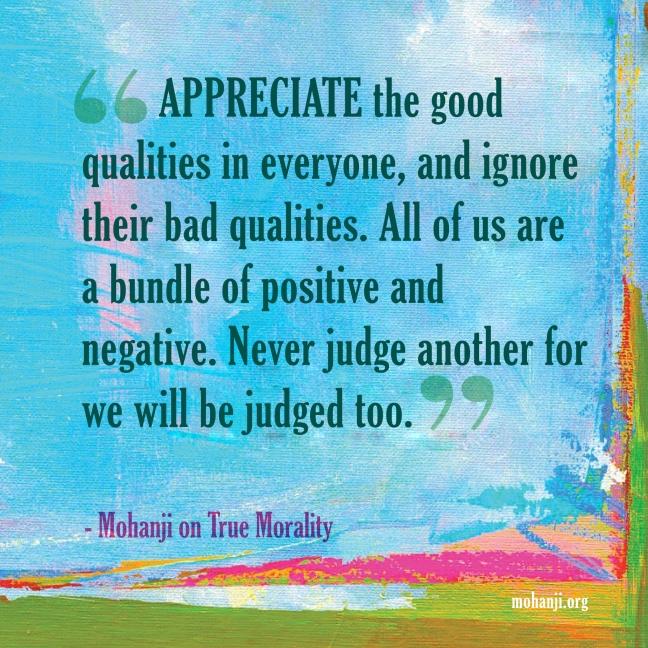 Mohanji quote - True morality