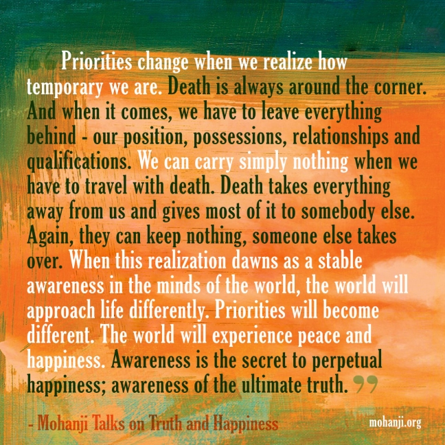 Mohanji quote - Truth and happiness