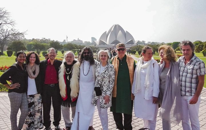 Mohanji at Peace Pledge Project in Delhi - Lotus Temple - Active Peace