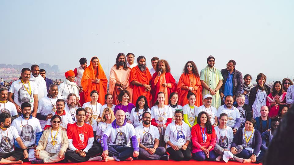 Kumbh Mela 2019 group photo