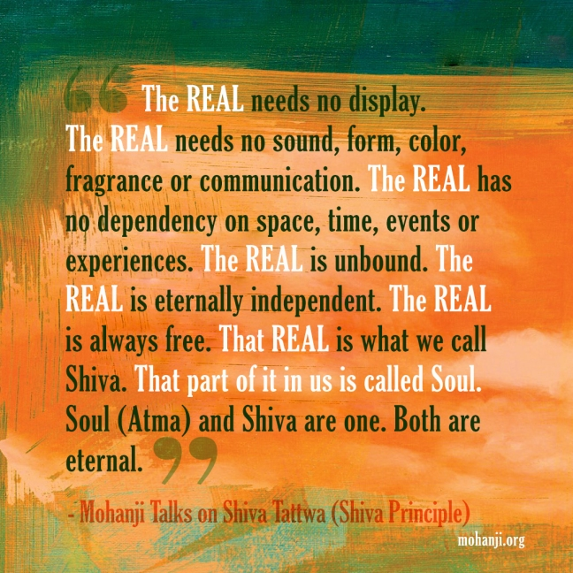 Mohanji quote - Shiva Tattwa - Shiva principle