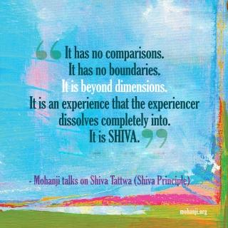 Mohanji quote - Shiva Tattwa4 - Shiva principle