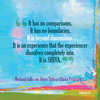 Mohanji quote - Shiva Tattwa4 - Shiva principle