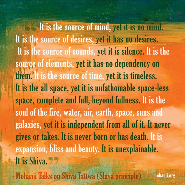 Mohanji quote - Shiva Tattwa7 - Shiva principle
