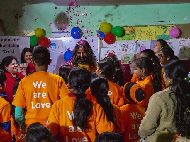 Mohanji visits Mohanji Ka Aangan in Delhi - Ammucare Charitable Trust children