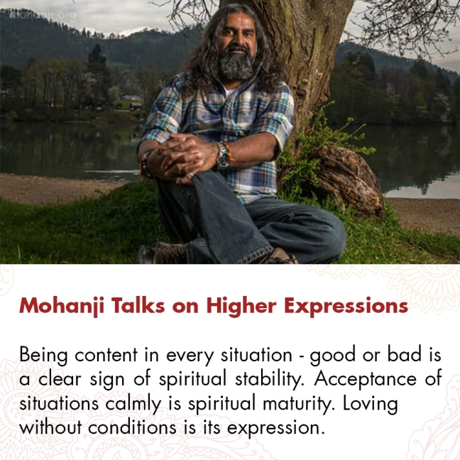 Mohanji quote - Higher Expressions 1