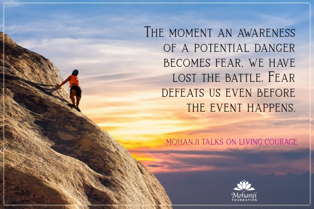 Mohanji quote - Living courage