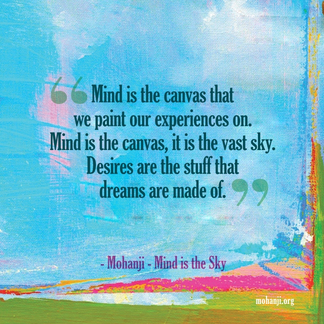 Mohanji quote - Mind is the sky