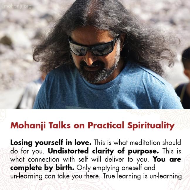 Mohanji quote - Practical Spirituality