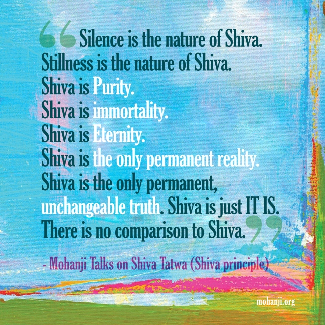 Mohanji quote - Shiva Tattwa11 - Shiva principle