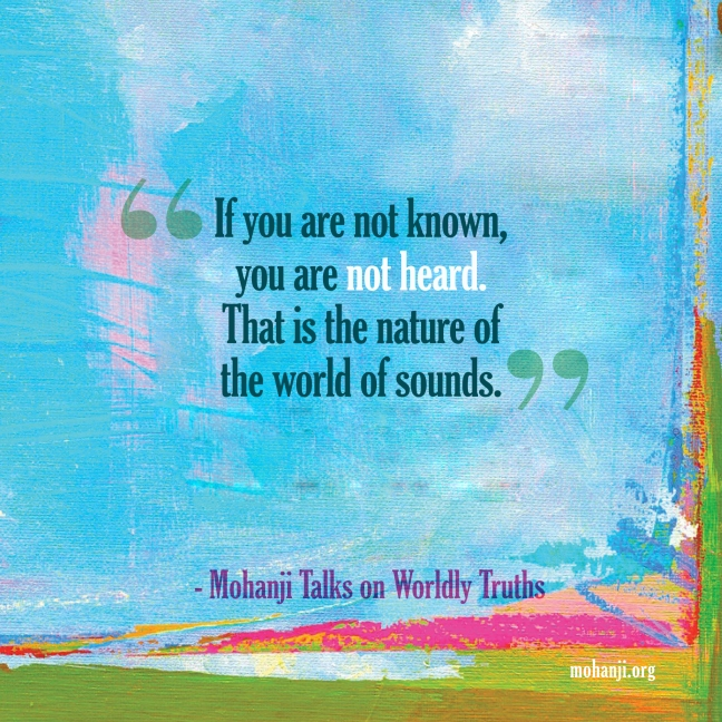 Mohanji quote - Worldly truths