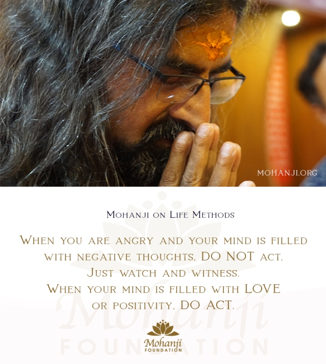 Mohanji quote - Life methods