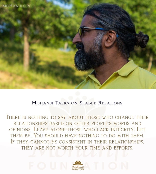 Mohanji quote - relations, stable 2