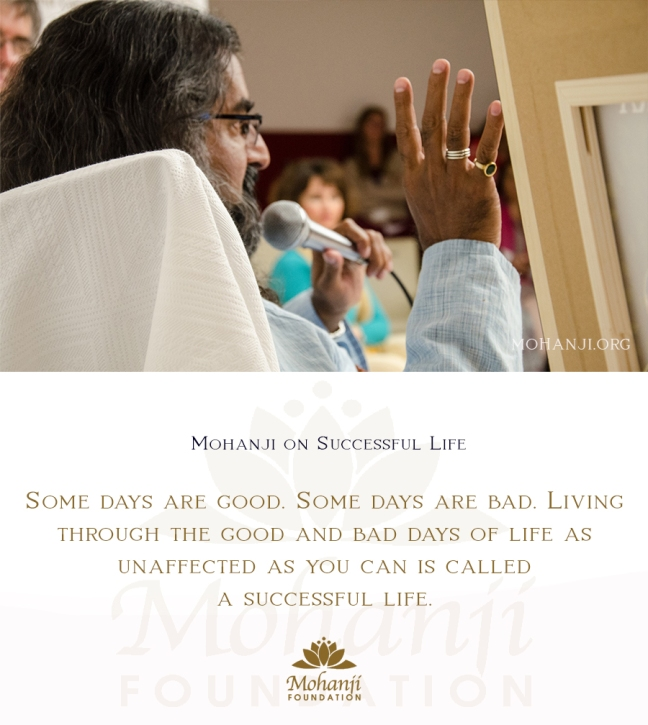 Mohanji quote - Successful life