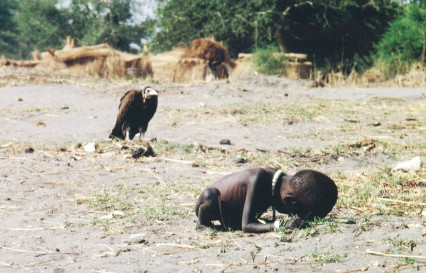 vulture and child